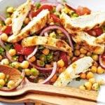 7 Receitas de Salada de Grão de Bico com Frango Light
