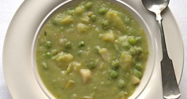 Sopa de ervilha com batata