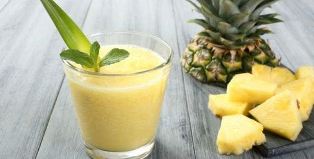 Suco de inhame com abacaxi
