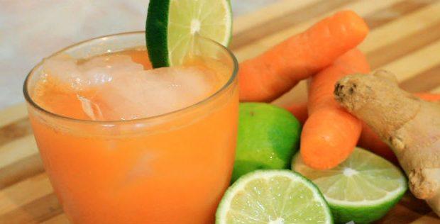 Suco de limão com cenoura