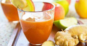 Suco de maçã com gengibre