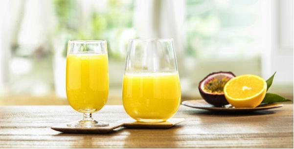 Suco de maracujá com laranja