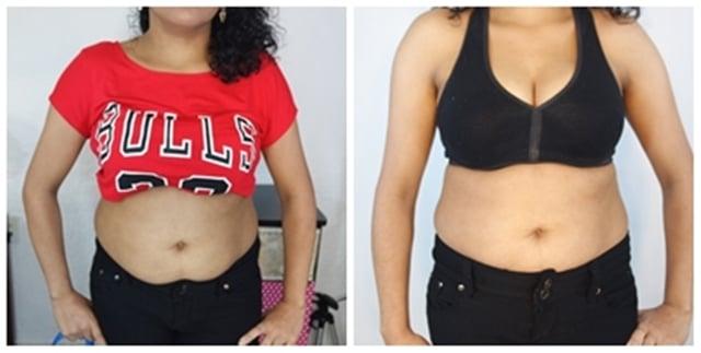 O antes e depois de Paula Nascimento