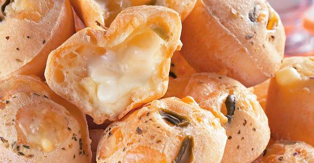 Pão de queijo recheado light