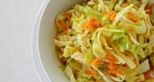 Salada de repolho refogada