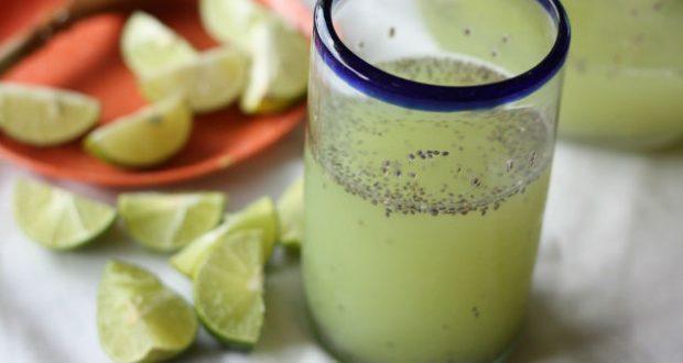 Suco de limão com chia