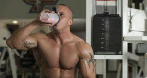 Tomando whey protein