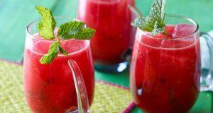 Bebida detox de melancia