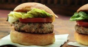 Hambúrguer de porco light