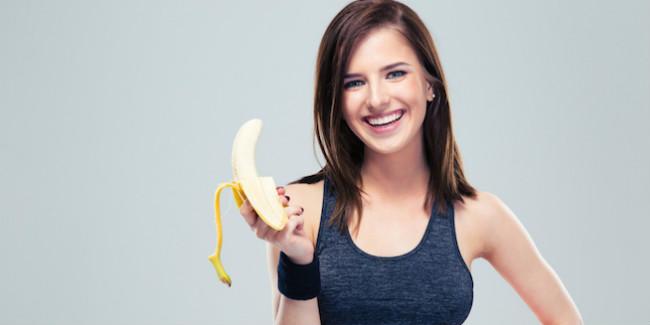 Mulher com banana