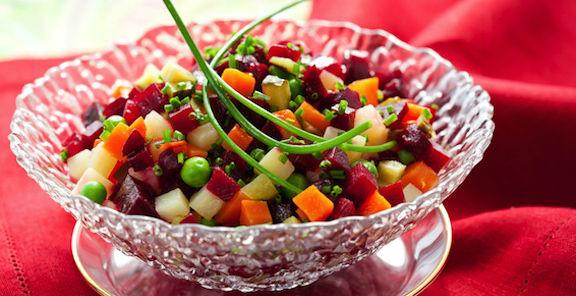 Salada de batata com cenoura