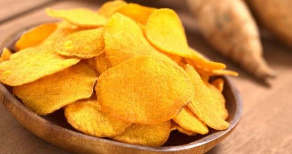 Chips de batata baroa