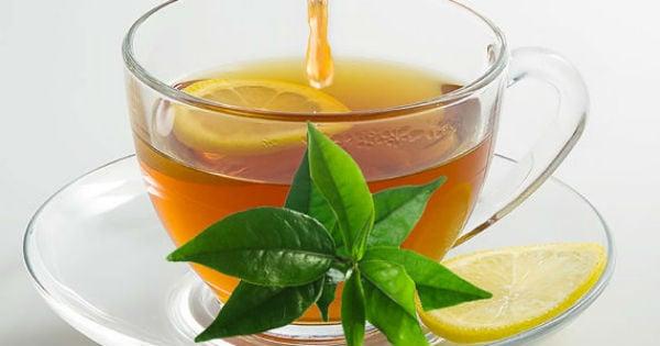 Chá de folha de limão