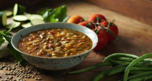 Sopa de lentilha light