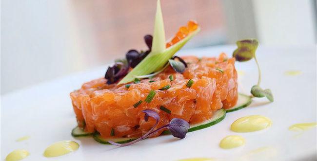 Tartar de salmão