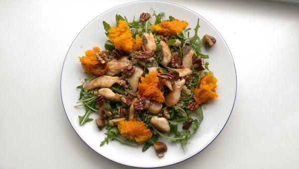 Salada com abóbora cabotiá
