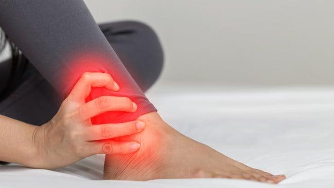 Cicatrizam não do ligamentos tornozelo