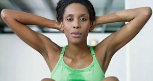 Suando com exercícios