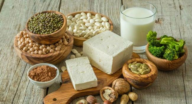Alimentos veganos ricos em proteínas