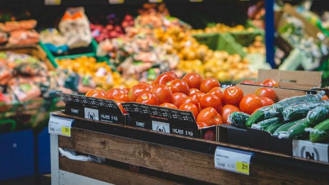Vegetais no mercado