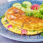 Receita de omelete fit com vegetais e especiarias