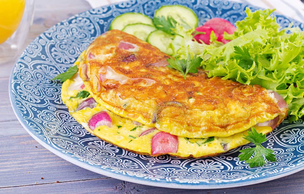 Omelete Fit com Vegetais e Especiarias