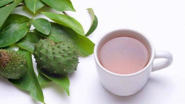 Chá de folha de graviola