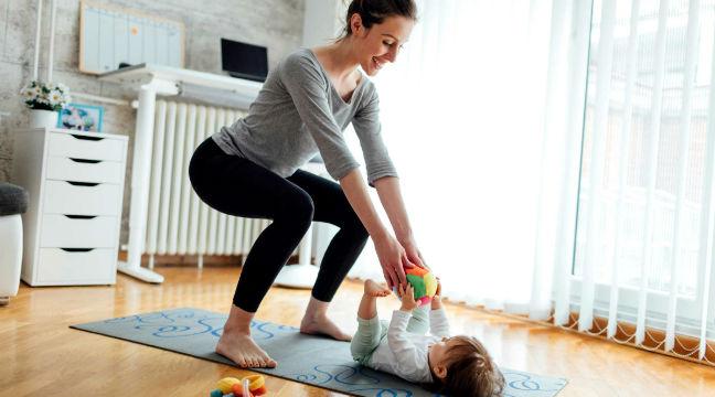 Musculação pós-parto