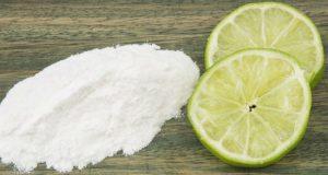 Limão e bicarbonato