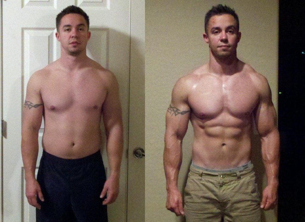 Fisiculturistas antes y despues de adelgazar