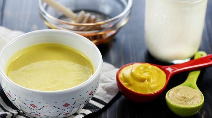 Molho de mostarda com iogurte