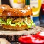 Receita de hambúrguer vegano de quinoa e cogumelos