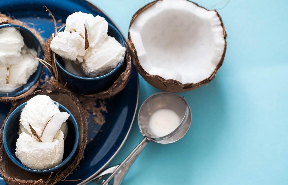 Sorvete de coco low carb
