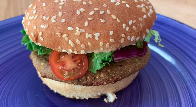 Hambúrguer vegano fit