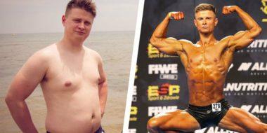 Após Anos de Maus Hábitos, Ele Mudou a Dieta, Perdeu 27 kg e Virou Fisiculturista