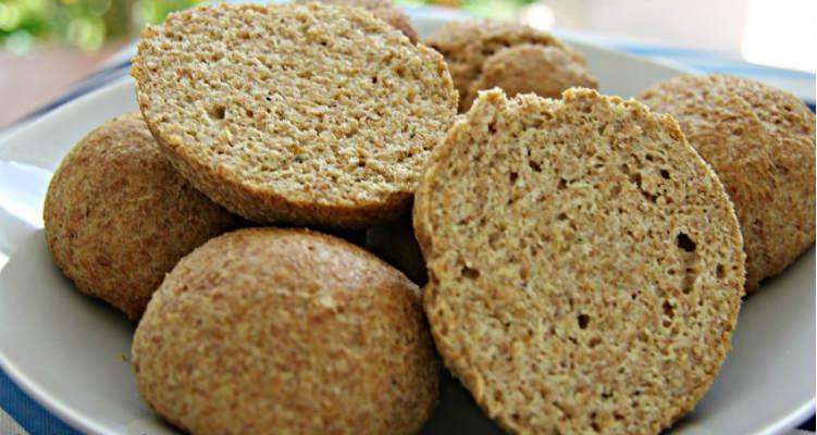 Pão low carb com farinha de linhaça