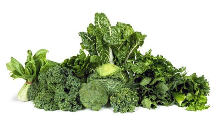 Vegetais verdes escuros