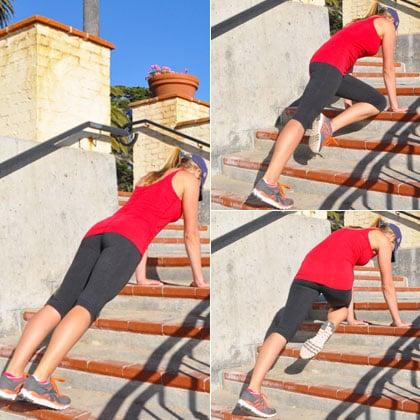 Prancha na escada