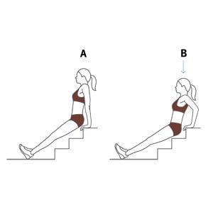 Tríceps na escada