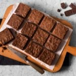 Receita de brownie de chocolate diet e low carb