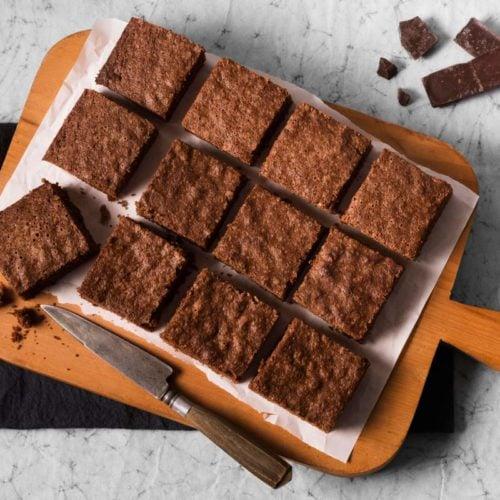Brownie de chocolate diet e low carb