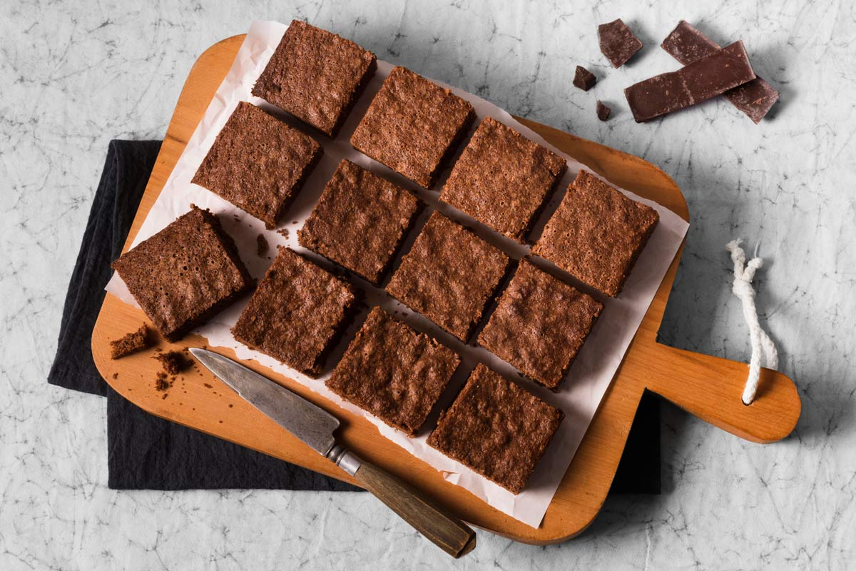 Brownie de chocolate diet e low carb