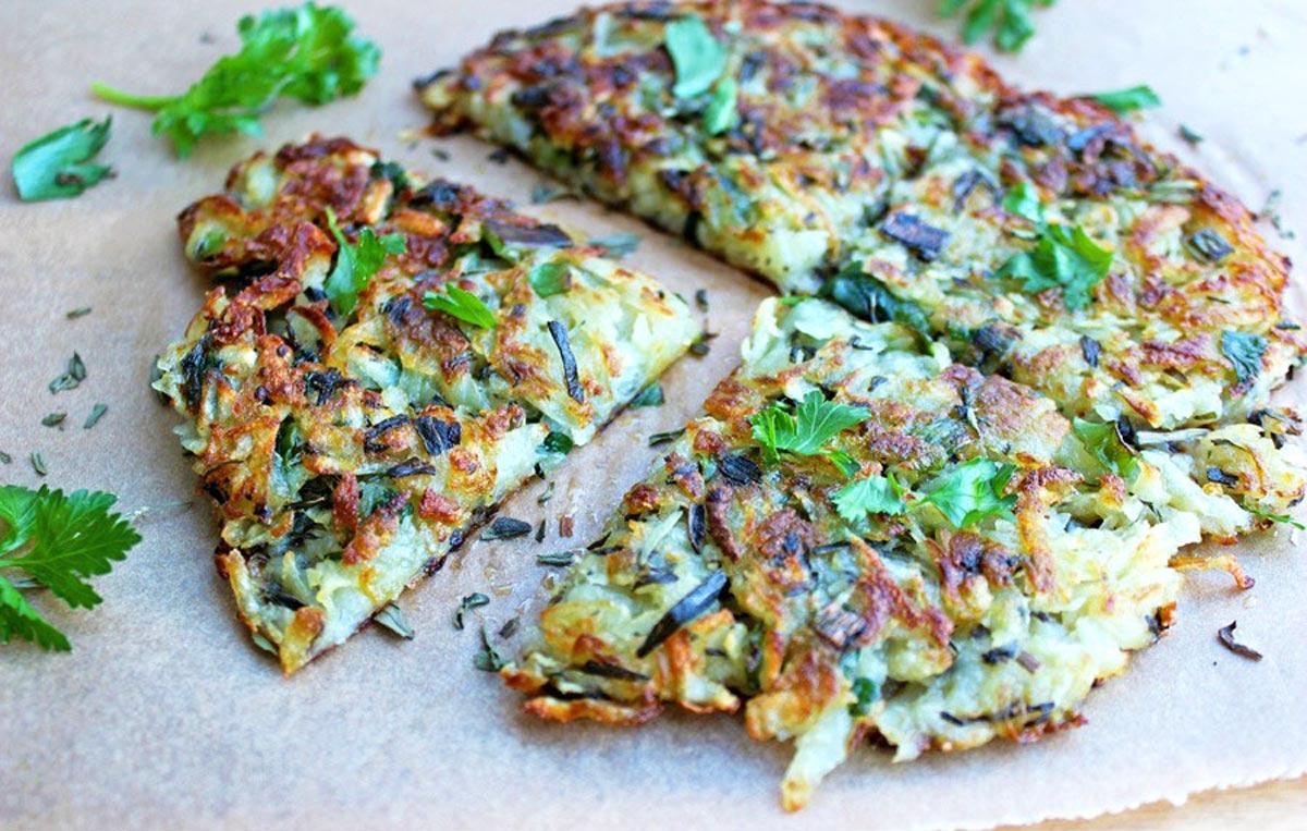Batata rosti fit com chia saudável e delicioso