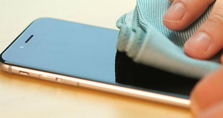 Limpando tela do celular