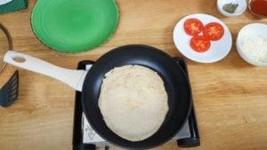 Pizza de frigideira - Passo 3