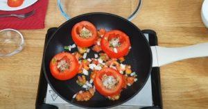 tomate recheado - Passo 2