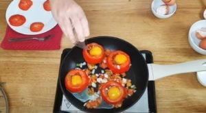 tomate recheado - Passo 3