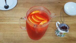 Água flavorizada de hibisco -Passo 2