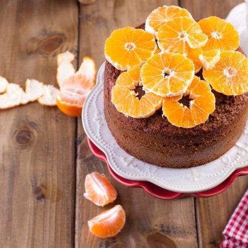 Bolo de tangerina fit sem glúten, farinha e manteiga