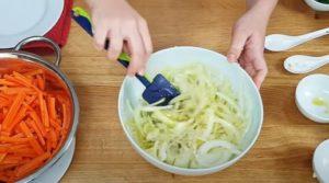 Salada de cenouta - Passo 1